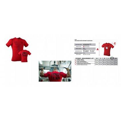TW RASH 005 RED koszulka krótki rękaw siłownia XL