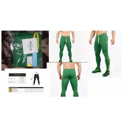 TREC - SPODNIE TRENINGOWE PRO PANTS 005 green XXL
