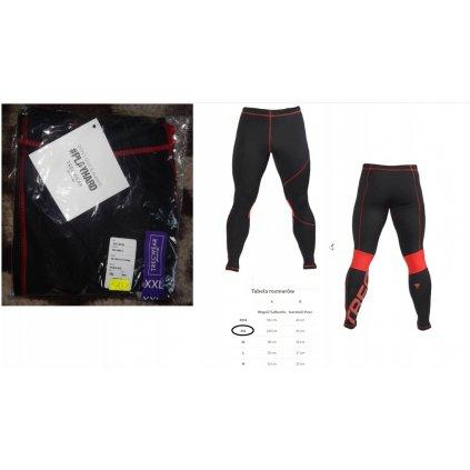 PRO PANTS 003 - BLACK/RED spodnie trec odziez XXL